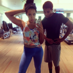Health & Fitness: Angela & Diggy Simmons Working Out In The Gym
