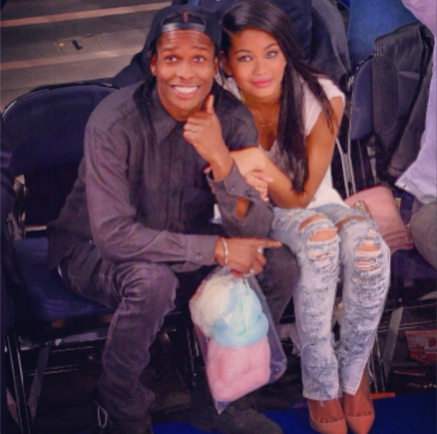 Chanel Iman And Asap Rocky 2015