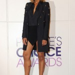 Ciara's Anthony Vaccarello Ensemble & Giuseppe Zanotti Ankle Booties In Beverly Hills