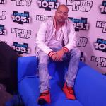"DJ Envy Styles A Python Bomber Jacket With Ripped Denim Jeans & Air Jordan 9 Retro ""Motorboat Jones"" At Power 105.1′s Powerhouse"
