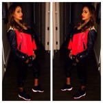 Lala Anthony & Her Son Kiyan Attend The Knicks Game To Cheer On Melo