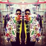 She's Still Rocking Her Doobie Wrap: Rihanna Spotted Wearing A $297 Joyrich Multi Man & Dog Reverse Jacket In LA