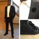 Tristan Thompson's PMK Custom Black Python Balenciaga Arena Sneakers
