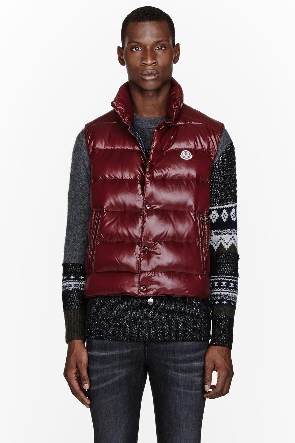 burgundy moncler jacket mens