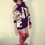 Ciara Does A Photoshoot In A $1,055 Givenchy Beige Patchwork Print Sweatshirt