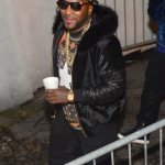 Young Jeezy Wears A $780 Givenchy Columbian Star Fit Cotton Jersey Tee-Shirt At Jay-Z's Concert