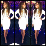 Kelly Rowland Wears A Ronny Kobo Dress & Tom Ford Pumps On X-Factor