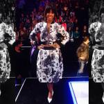Kelly Rowland Wears A Jacket & Skirt From Calvin Rucker On 'X-Factor'