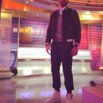 Matt Kemp Appears On ESPN In A $1,790 Saint Laurent Wool Gabardine & Leather Bomber Jacket And $615 Balenciaga Arena High Top Sneakers