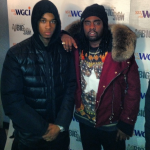 Wale Photo'd In A $4,399 Balmain Quilted Cotton Parka & $780 Givenchy Columbian Star Fit Cotton Jersey Tee-Shirt