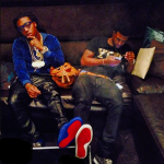 Takeoff From Migos Spotted In Christian Louboutin Sapphire Royal Blue Louis Velours Studded Sneakers