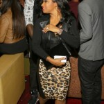 Toya Wright Pairs A $44 Leopard Faux Midi Skirt From Garb Boutique With $895 Giuseppe Zanotti Suede Front-Zip Platform Ankle Boots
