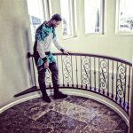 Ben McLemore Styles In A Tiffany Feathered Crewneck & The Matching Sweatpants From Vie-Riche