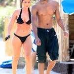 A Shirtless Michael B. Jordan Is Photo'd On Miami Beach With A Cute Chic