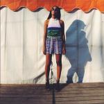 Solange Knowles Wears A $1,845 Mary Katrantzou 'Kite' Playsuit In Western, Australia