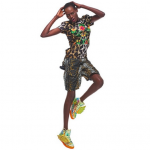 Ajak Deng For Adidas Originals By Jeremy Scott's Spring 2014 Collection