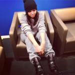 Comfort Clothes In The Snow: Angela Yee's $750 Prada Linea Rossa Triple Strap Wedge Sneakers & Grey Sweatsuit