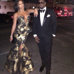 Cassie Looks Stunning In A Michael Costello Dress At The 2014 Golden Globes