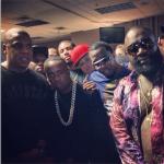 Diddy, Rick Ross, Meek Mill, Yo Gotti, French Montana, DJ Khaled, Chad Johnson, Chino & Sean Pecas Attend Jay-Z's MCHG Show In Florida