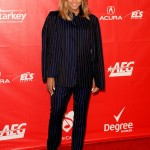 Ciara Wears A Lanvin Menswear Pinstripe Suit To The 2014 MusicCares Person Of The Year Gala