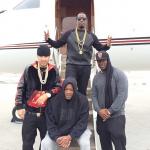 Diddy's $60 Topman Black Leather Look Quilted Front Raglan Sweatshirt