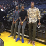 Kicks Of The Day: Dorell Wright Spotted In Christian Louboutin Sapphire Royal Blue Louis Velours Studded Sneakers