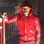 Celebs Style: Future & Jeezy In An Exclusive Game Red Suede & Leather Bomber Jacket
