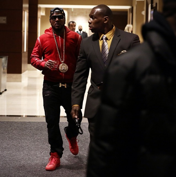 Celebs Style Future Jeezy In An Exclusive Game Red