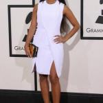 Rocsi Diaz Styles In A Cushnie Et Ochs Dress & Giuseppe Zanotti Shoes At The Grammy Awards