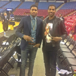 Tristan Thompson's $535 Givenchy Cuban-Fit Deer/Statue Tee-Shirt & Rudy Gay's $555 Balenciaga Patchwork High Top Sneakers