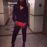 Yandy Smith's YSL Clutch & Christian Louboutin Platforms In The Bahamas