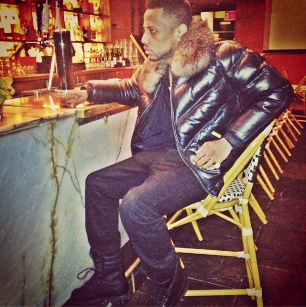 Look Of The Day: Fabolous Wears A Double Goose V Bomber Jacket ...