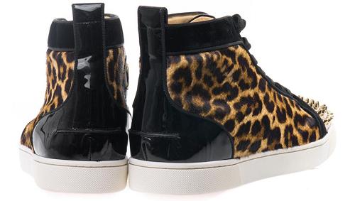 Christian Louboutin Animal Lou Spike & Leopard Print Trainers2