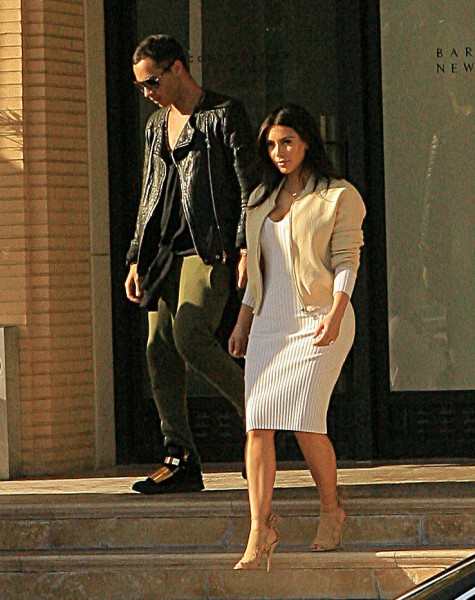 Kim Kardashian, Kendall Jenner and their friend Kyle go to Barneys New York in Beverly Hills