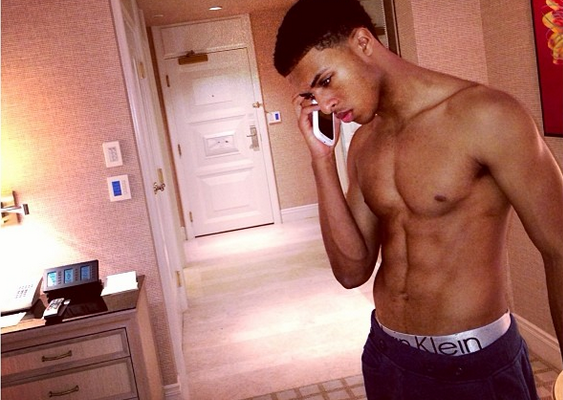 Diggy Simmons Poses In Calvin Klein Boxer Briefs, New