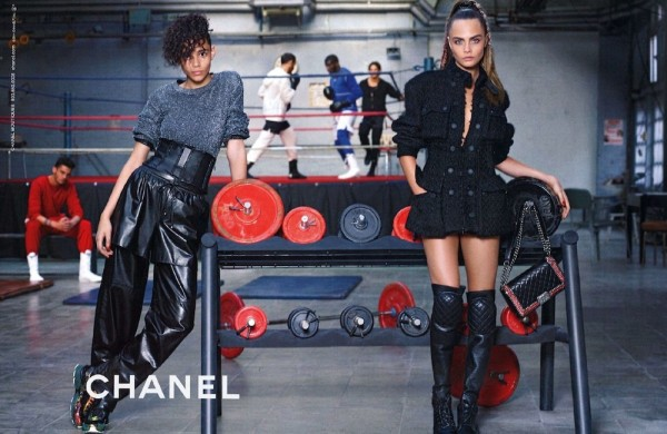 Binx Walton And Cara Delevingne For Chanel's Fall 2014 Campaign