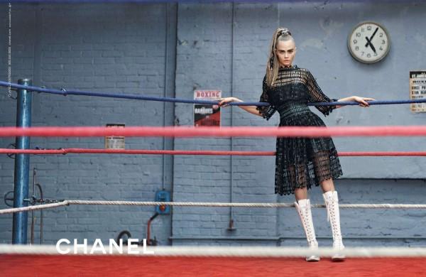 Binx Walton And Cara Delevingne For Chanel's Fall 2014 Campaign3