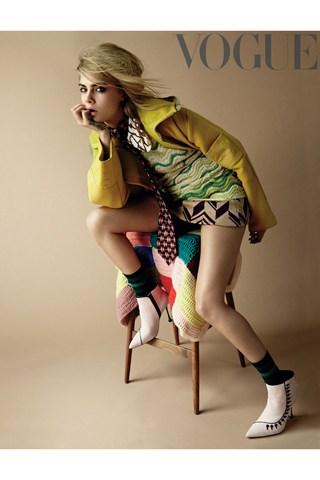 Cara Delevingne Covers Vogue UK's September 2014 Issue  2