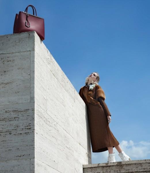 Nadja Bender & Ashleigh Good For Fendi's Fall 2014 Campaign11