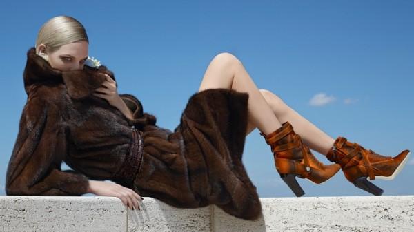 Nadja Bender & Ashleigh Good For Fendi's Fall 2014 Campaign12