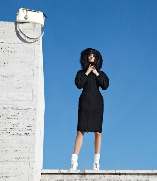 Nadja Bender & Ashleigh Good For Fendi's Fall 2014 Campaign2