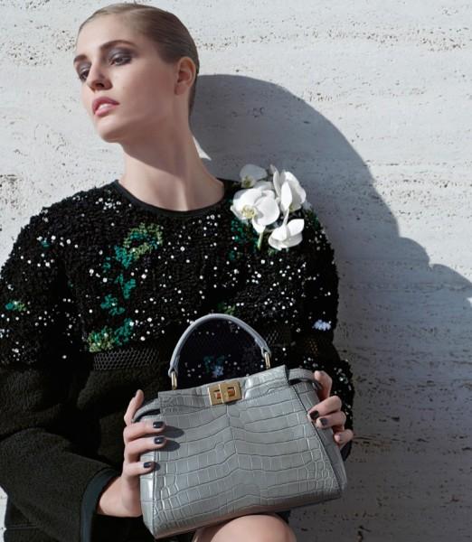 Nadja Bender & Ashleigh Good For Fendi's Fall 2014 Campaign4