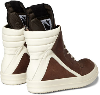 Rick Owens Panelled Leather High Top Sneakers2