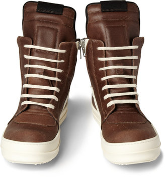 Rick Owens Panelled Leather High Top Sneakers4
