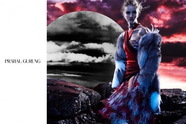 Rosie Huntington-Whiteley For Prabal Gurung's Fall 2014 Ads 1