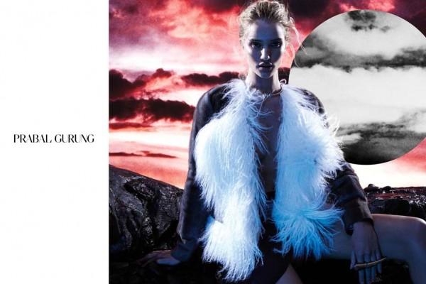 Rosie Huntington-Whiteley For Prabal Gurung's Fall 2014 Ads 5