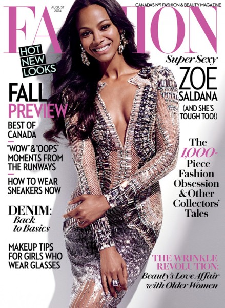 Zoe Saldana Fashion mag1