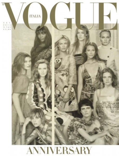 50 Models Cover The September 2014 Issue Of Vogue Italia1