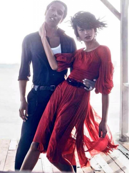 A$AP Rocky & Girlfriend Chanel Iman For Vogue U.S. September 2014 Issue1