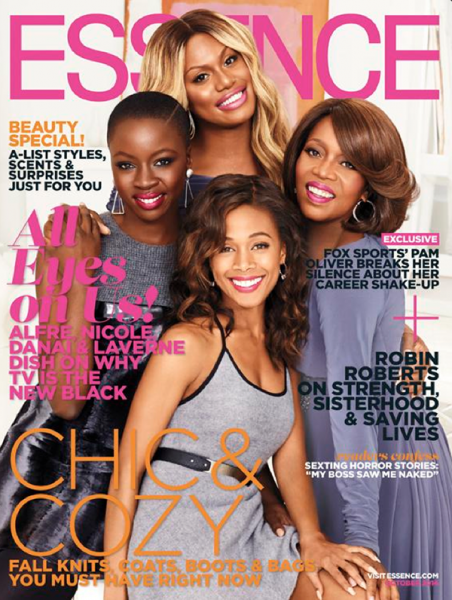 Alfre Woodard, Laverne Cox, Nicole Beharie, & Danai Gurira For Essence Magazine